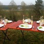 Dukat bord och utsikt